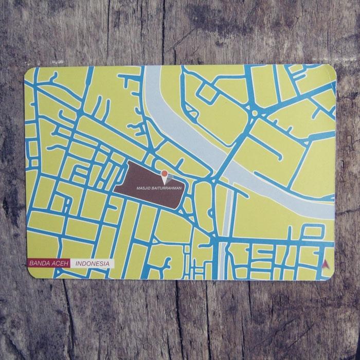 Postcard | Indonesian City Map Postcard Series | Banda Aceh - Indonesia