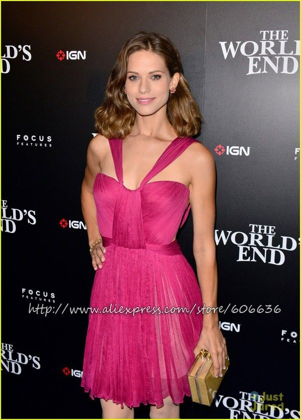 Custom Made Lyndsy Fonseca V Neck Mini A Line Short Celebrity Dresses Silkchiffon Fast Drop Shipping Free Shipping Best Selling-in Celebrity...