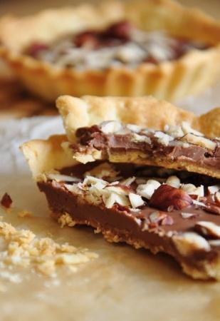 Tartelettes nutella noisette sans oeuf
