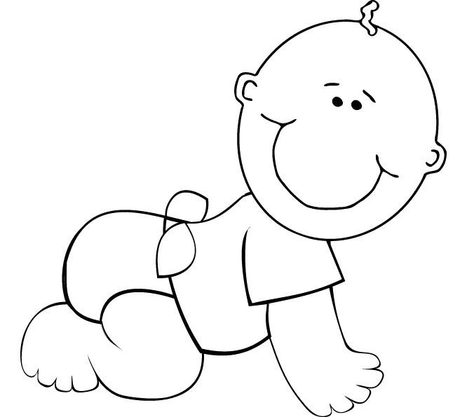 13 best baby images images on pinterest baby images for Baby cartoon coloring pages