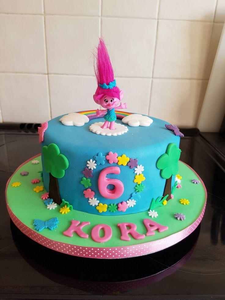 Trolls cake #trolls #cake #poppy #yummiliciouscakes