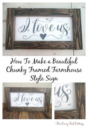 How get get the framed farmhouse sign look when you are using thin plywood. I love the look of this thicker style of frame and its inexpensive!