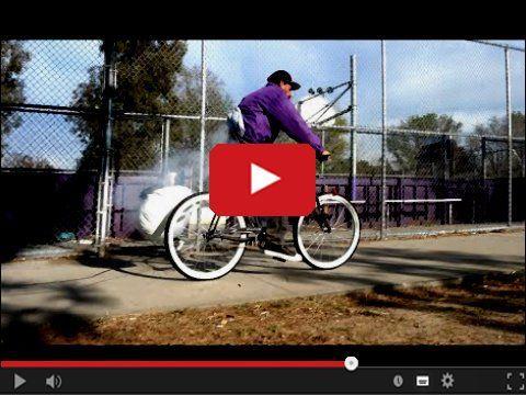 Ciekawy sposób zabezpieczenia roweru przed kradzieżą, a może sposób na