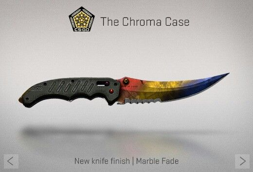 Counter-Strike Global Offensive: The Chroma Case: Flip knife Marble Fade