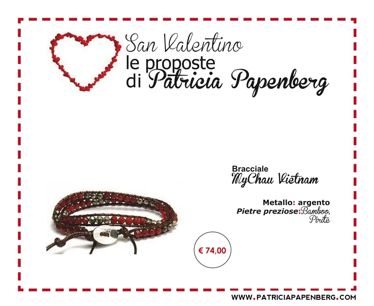 Bracciale MyChau Vietnam  http://www.patriciapapenberg.com/it/mychau-vietnam-red-green  #bracciale #mychau #bracelet #jewels #gioielli