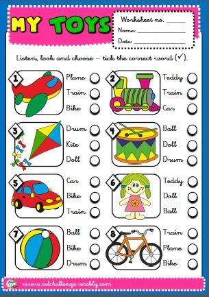 toys - worksheet
