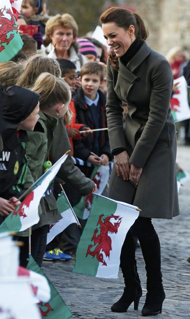 Watch Out, Prince William! Kate Middleton Has the Cutest New Admirer: Kate Middleton and Prince William were all smiles when they visited North Wales on Friday.