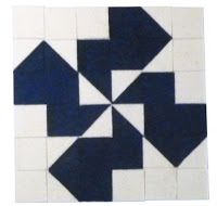 Kacsa forgó minta filcből készítve. Ezt a mintát patchwork mintaként is fel lehet használni. duck pattern for your patchwork pattern