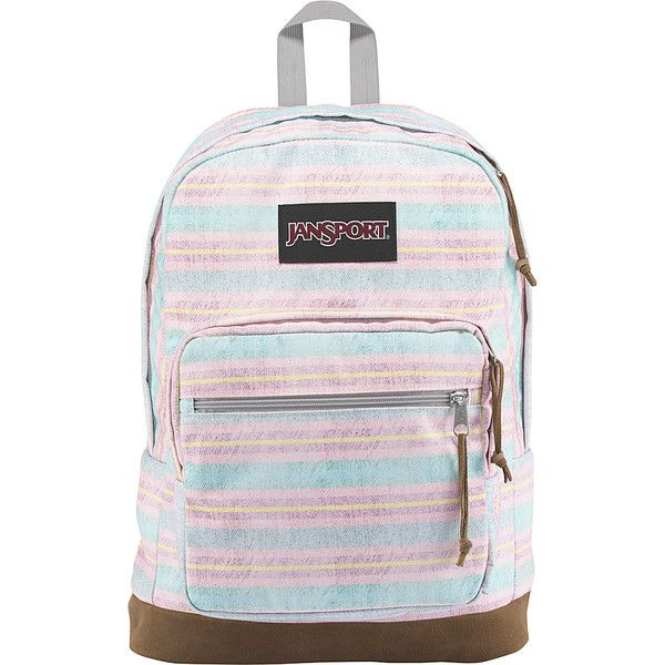 JanSport Right Pack Expressions - Beach Stripe - School Backpacks ($65) ❤ liked on Polyvore featuring bags, backpacks, blue, beach bag, laptop pocket backpack, laptop backpacks, blue backpack and utility backpack