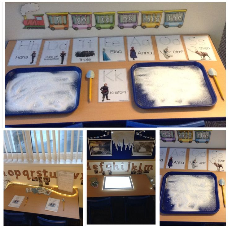 Sample of resources used in the literacy area and daily set up.