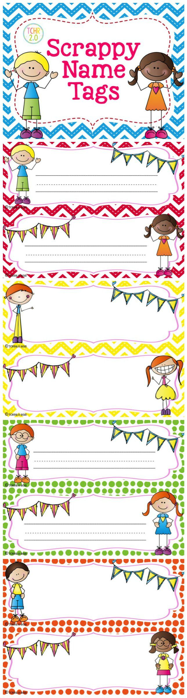 This is a set of editable desk plates with a Scrappy Kid theme. Available with chevron and polka dot background. Just insert a text box and type your kids' names or print and handwrite your students' names. Great for back to school!