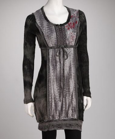Take a look at this Jack & Ginger Black & Silver Tunic by Christine Phillipë on #zulily today!