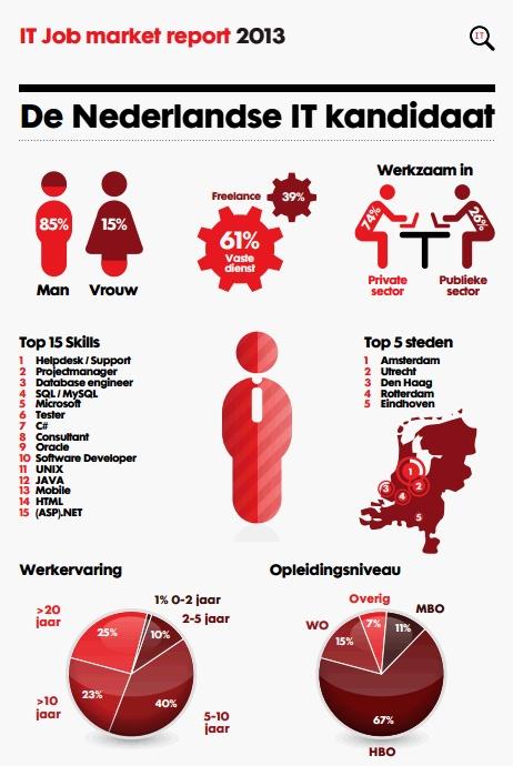 De Nederlandse ICT kandidaat, uit ons IT Job Market report 2013.