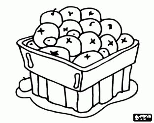 Cranberry Blueberry Fruit Or Berries In A Bowl Coloring Page