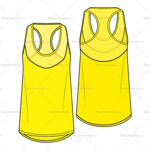 Women's Tank Top Fashion Flat Template