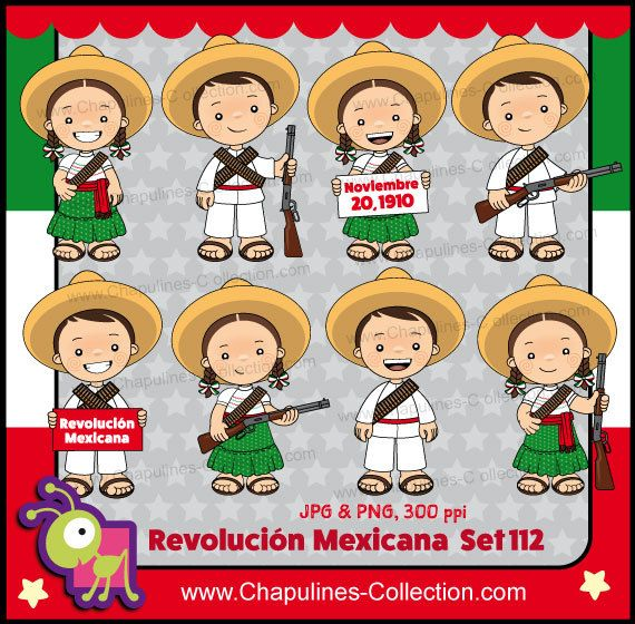 60% de desc. Clipart Revolución Mexicana por ChapulinesCollection