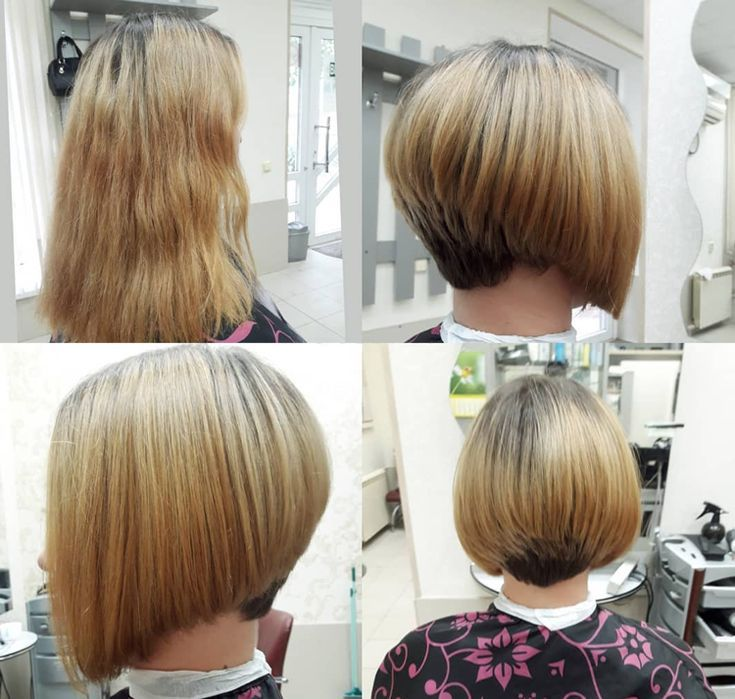 Bob Hairstyles With A Short Neck Trimmed Top Hair Bleached Best New Hair Styles Bob Frisur Kurzer Nacken Frisur Bob Hinten Bob Frisur