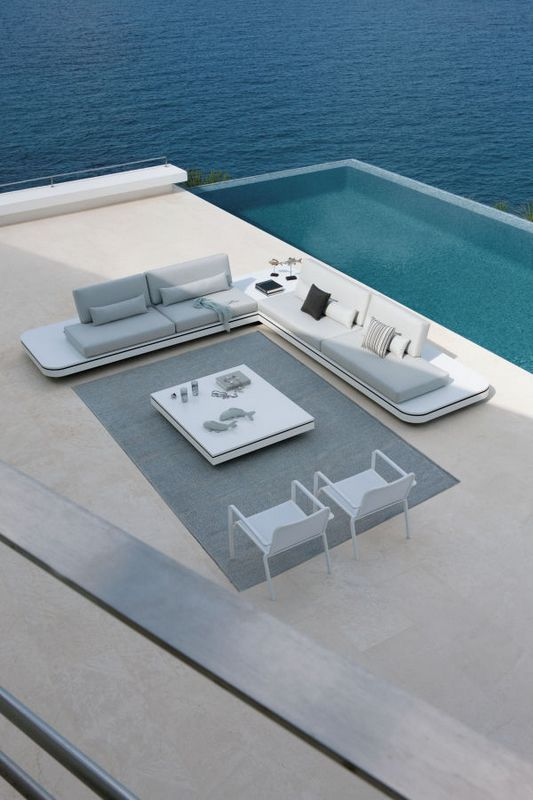 Outdoor Sofas Elements: Contemporary Architectural Design, Sharp Lines And  Curved Forms Conceived By Gerd Couckhuyt
