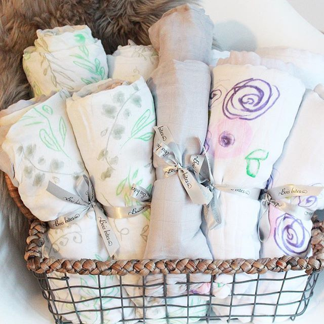 We LOVE our 100% bamboo blankets! Pick one up this Saturday at @north_surrey_handmade_market for a special price. We couldn't keep these on our shelves fast enough at our last market! #bamboo #dreamy #babyblanket #swaddle #boisbites