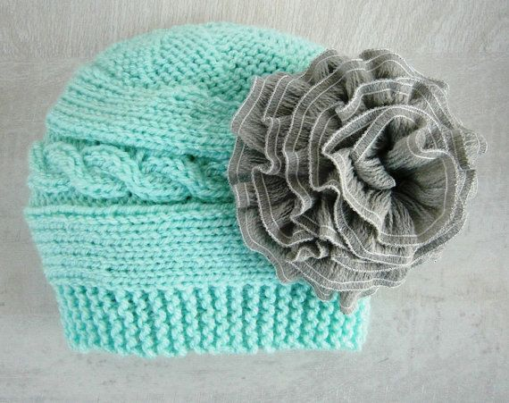 Someone Please make me this!! Baby Girl Hat Baby Girl Knit Hat Knit Newborn by PrettyBagsByMia, $17.90