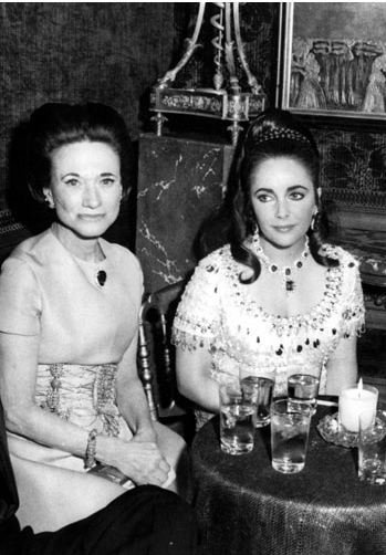Elizabeth Taylor with the Duchess of Windsor. Having each spent time as 'the most hated woman in the world' they became very good friends.
