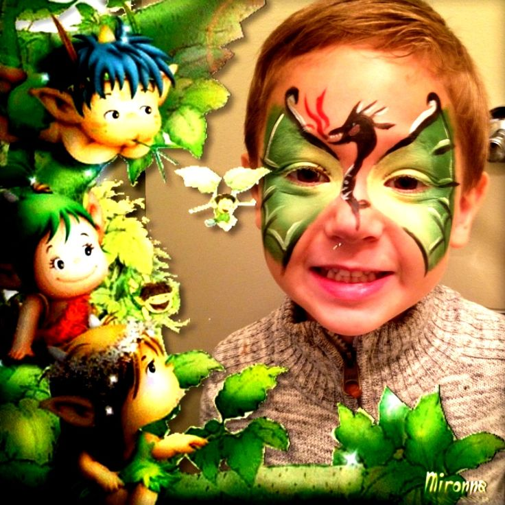 Dragon Face Painting for Boys