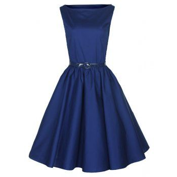 Audrey Midnight Blue Dress | Vintage Inspired Fashion - Lindy Bop