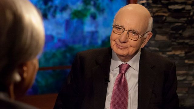 Volcker defends the rule -- now under siege -- that he says aims to end conflicts of interest between bankers and their customers.