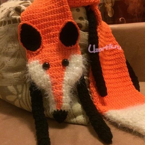 Animals Knitting, Вязаный Шарф