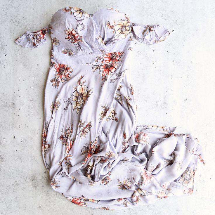 paper heart - perfect off the shoulder maxi dress
