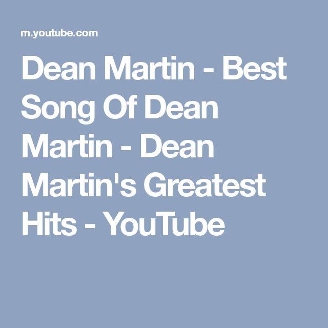 Dean Martin - Best Song Of Dean Martin - Dean Martin's Greatest Hits - YouTube