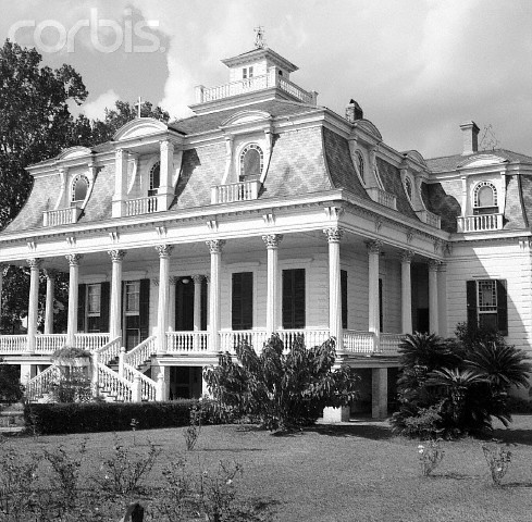 House In New Orleans, Porch, Mansard Roof with lovely patterns in shingles