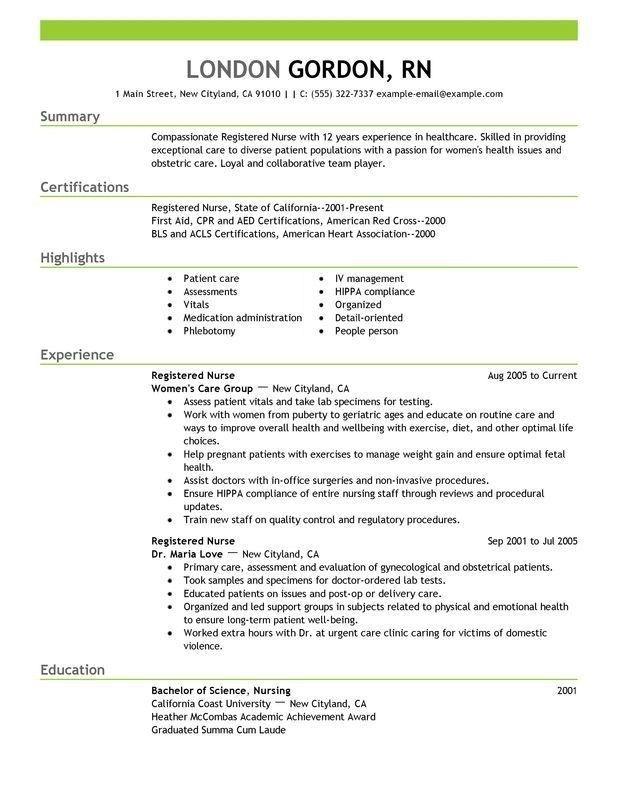 Registered Nurse Resume Sample Recipe With Images