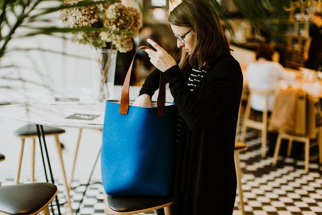 torebka filcowa tHd :: niebieska - marmollada - Torby na ramię