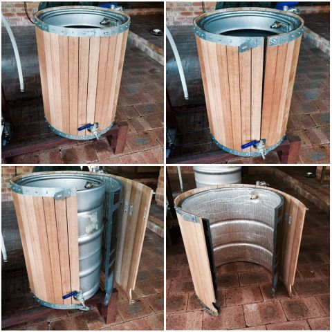 Removable Oak Cladding - Putrino Brew Day - Gallery - Aussie Home Brewer