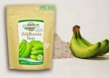 Gluténmentes, 100%-ban természetes, vegán zöldbanánliszt 250 vagy 500 g-os kiszerelésben