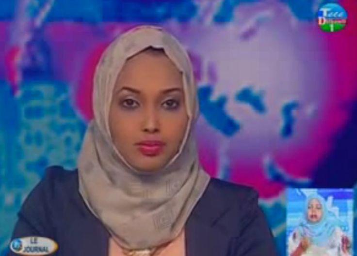 A news broadcast on Radio Television of Djibouti.