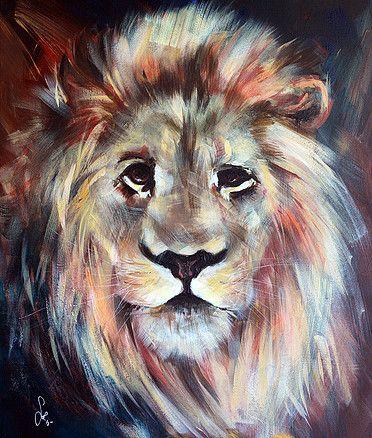 Mok&Sol - Le lion - Acrylique sur toile 50x60cm (2015) http://solboursier.wix.com/mok-et-sol
