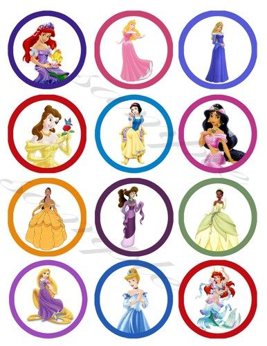 Disney Princess Printable Cupcake Toppers Cupcake