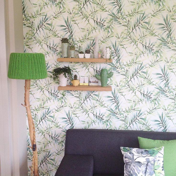#kwantum repin: Behang Lente @lierop - 123Good morning☀️☀️☀️. #wallpaper #kwantum #serax #cactus #diy #botanisch #livingroom #accessories #home #homesweethome