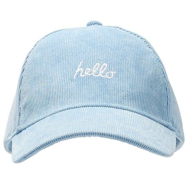 HELLO GOODBYE CAP ($15) ❤ liked on Polyvore featuring accessories, hats, embroidery hats, embroidered hats, adjustable caps, embroidered caps and adjustable hats