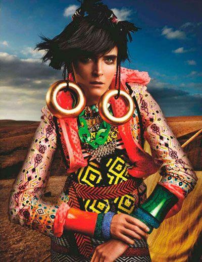 Carmen Kass by Mario Testino for British Vogue