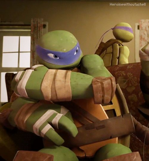 "purpletiger15: ""heroinewithoutashell: "" Leo being a grump. "" ""pfft whatever raph gosh"" ""my brothers are such dorks"" """