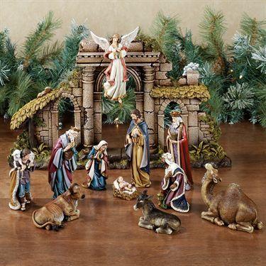 Heirloom 12 pc Nativity Set by Roman