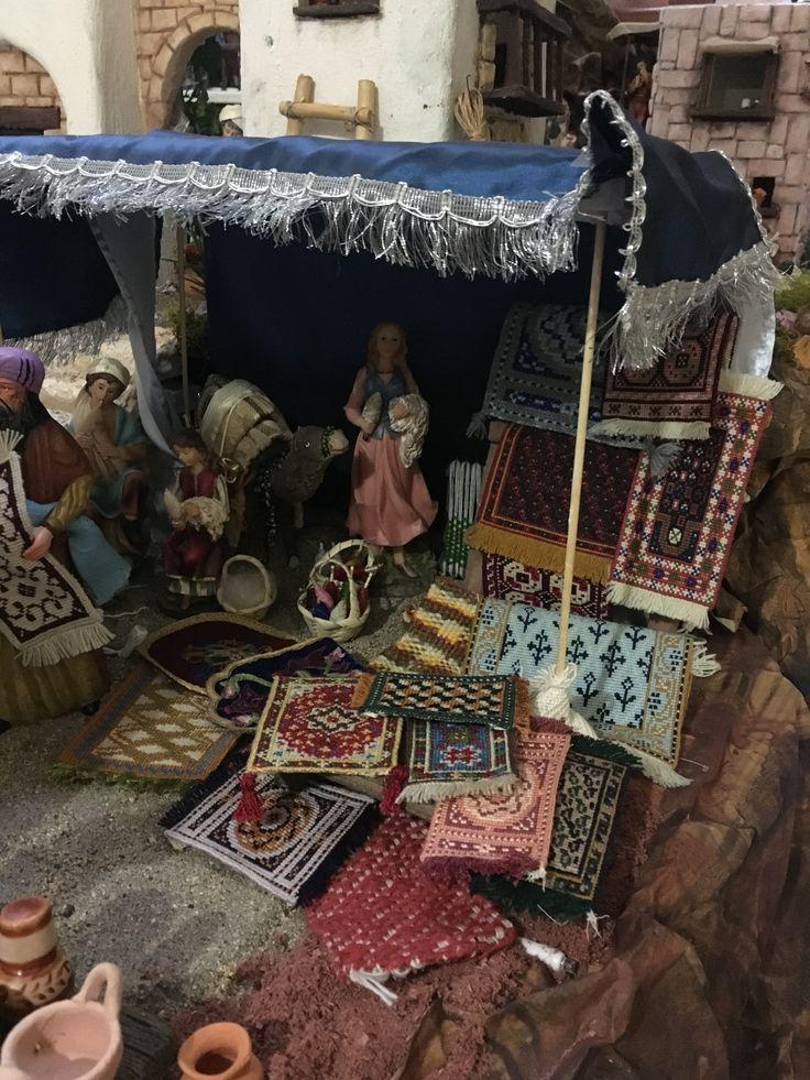 Puesto de alfombras.  Nacimiento/Belén Gabriela Aranda 2015. Guadalajara, México