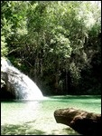 Waterfall at Finca La Gloria , coffee plantation, Sierra Madres outside Hualtulco, Mexico