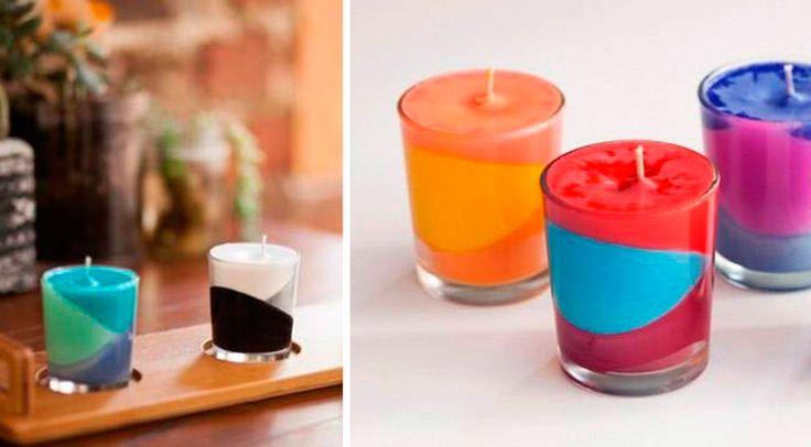 Veja como fazer velas decorativas de maneira simples e barata! O resultado são velas coloridas e lindas para decorar a sua casa! Confira!
