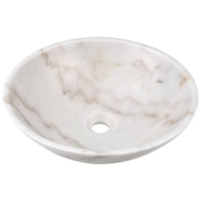 White Granite Stone 16.5 inch Round Vessel Sink- Free Shipping Low stock