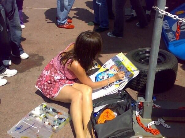 Painting a Matra in 2008