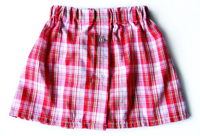 Cute little girls skirt tutorial from mens shirt! This woman has a ton of amazing ideas!!!